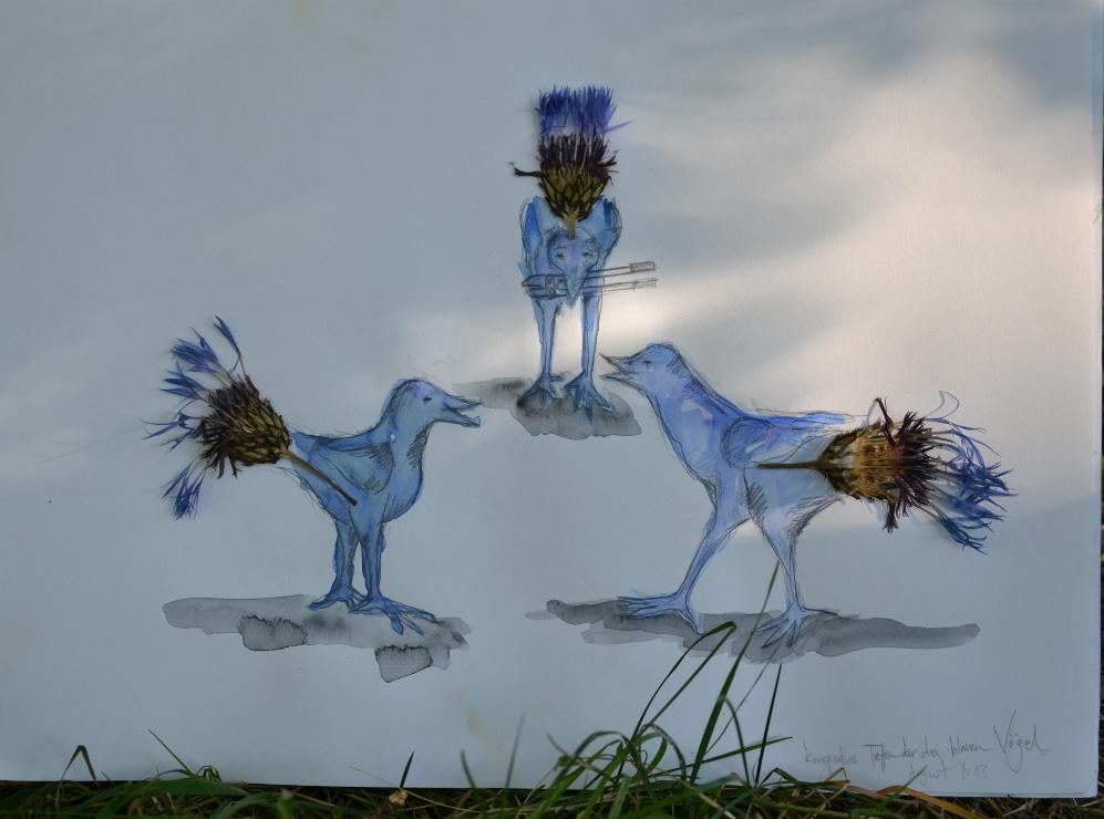konspiratives Treffen der blauen Vögel